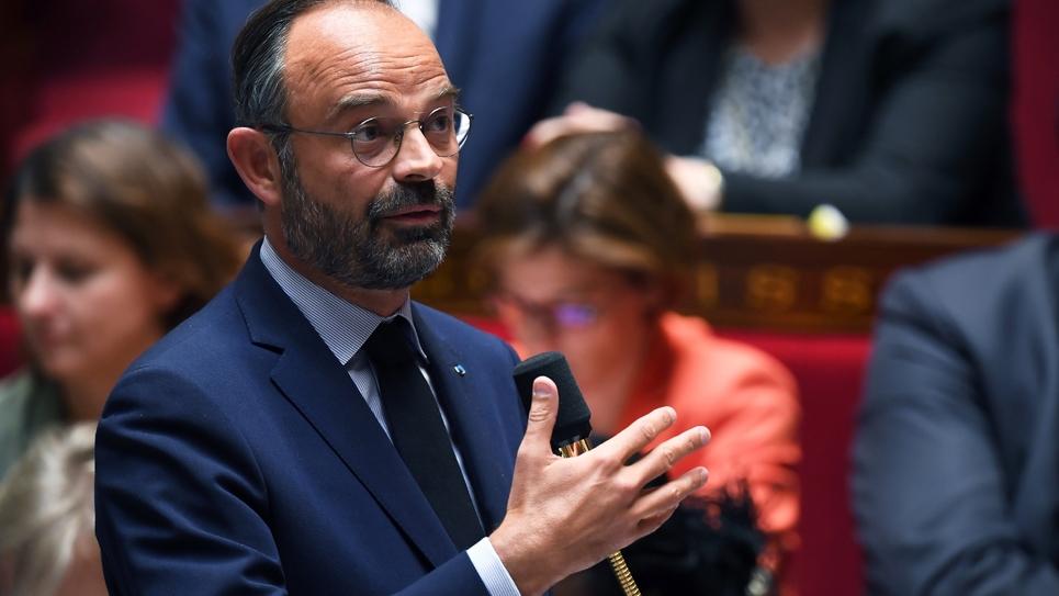 Le Premier ministre Edouard Philippe lors de la séance de questions au gouvernement à l'Assemblée nationale à Paris, le 10 septembre 2019