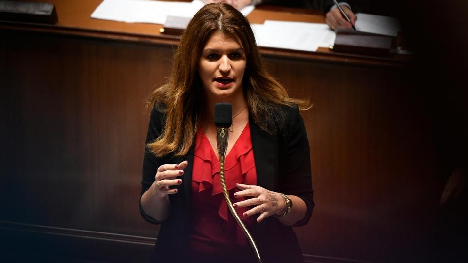 La secrétaire d'État à l'Égalité entre les femmes et les hommes, Marlène Schiappa, à l'Assemblée nationale le 6 novembre 2018