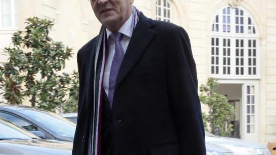 Jean Arthuis (UDI) arrive à l'hôtel Matignon le 31 janvier 2014