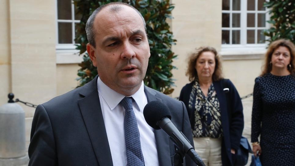 Le secrétaire général de la CFDT, Laurent Berger, le 5 septembre 2019 dans la cour de Matignon