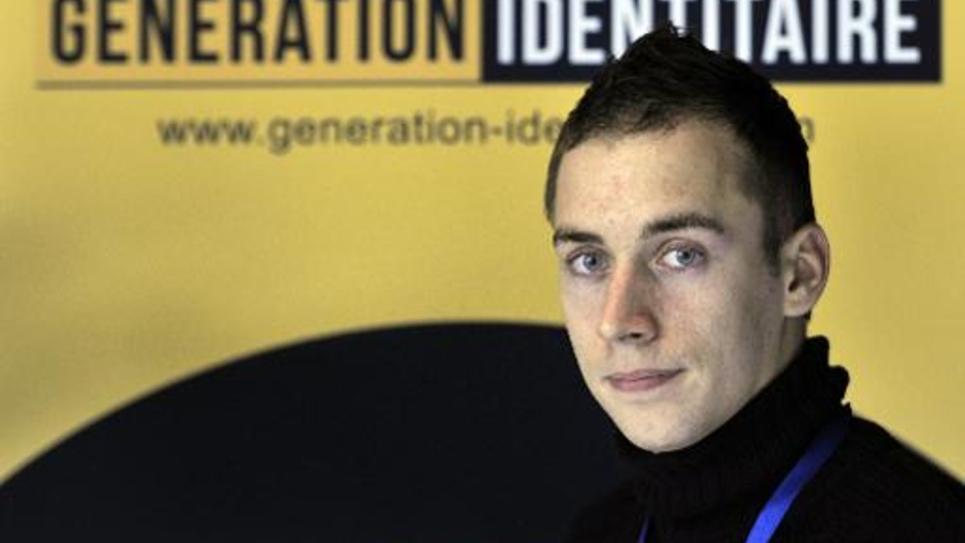 L'ex-porte-parole de Génération Identitaire, Damien Rieu (un pseudonyme), le 3 novembre 2012 à Orange