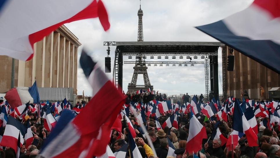 Meeting de François Fillon au Trocadéro à Paris, le 5 mars 2017