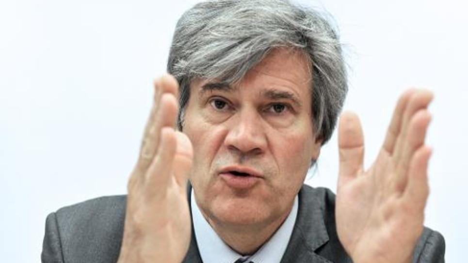 Le porte-parole du gouvernement Stéphane Le Foll le 14 avril 2014, à Sable-Sur-Sarthe