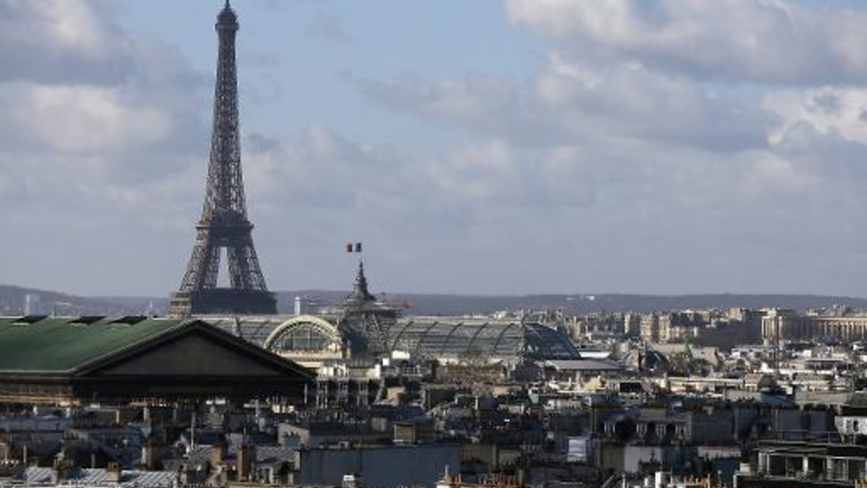 Vue aérienne de Paris, en février 2015