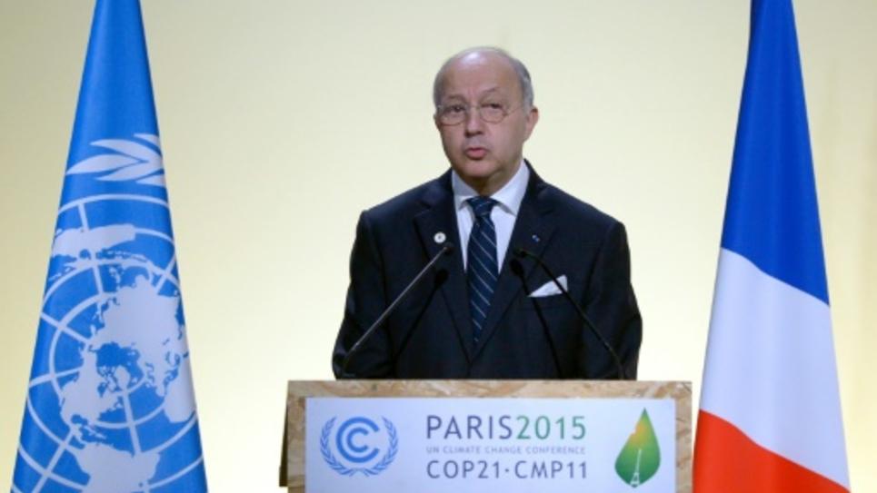 Laurent Fabius, le 30 novembre 2015 au Bourget, pendant la COP21