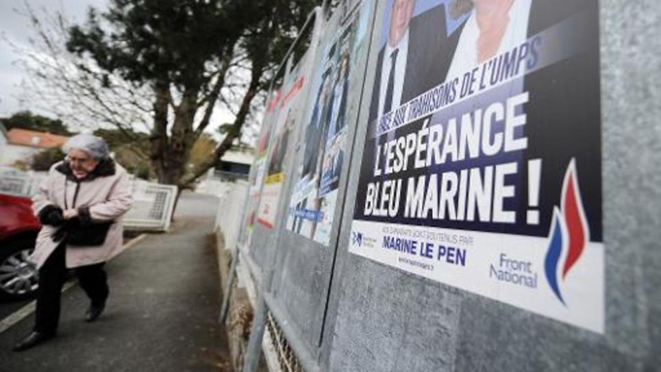 L'affiche électorale du FN à La Baule, le 22 mars 2015