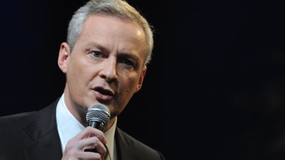Bruno Le Maire, candidat à la présidence de l'UMP, le 15 novembre 2014 à Paris