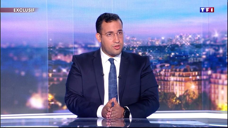 Alexandre Benalla lors de son interview sur TF1 le 27 juillet 2018