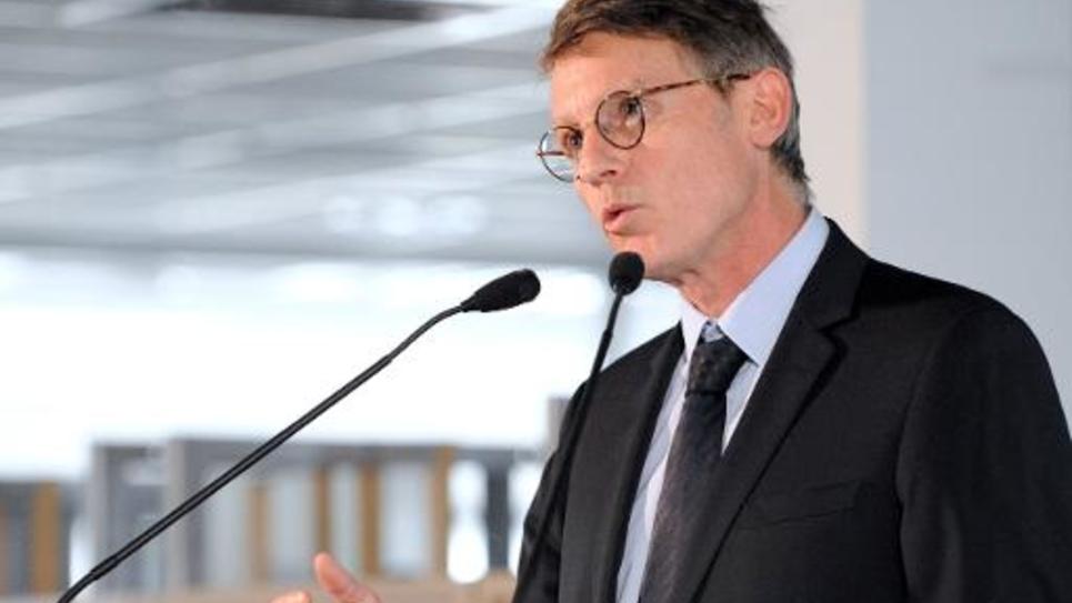 L'ancien ministre de l'Education nationale Vincent Peillon à Poitiers, le 3 février 2014