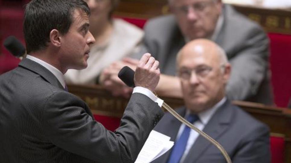 Le Premier ministre, Manuel Valls, à l'Assemblée Nationale, le 20 mai 2014 à Paris
