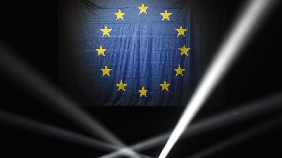 Drapeau européen, photo prise à Strasbourg, le 11 mai 2019