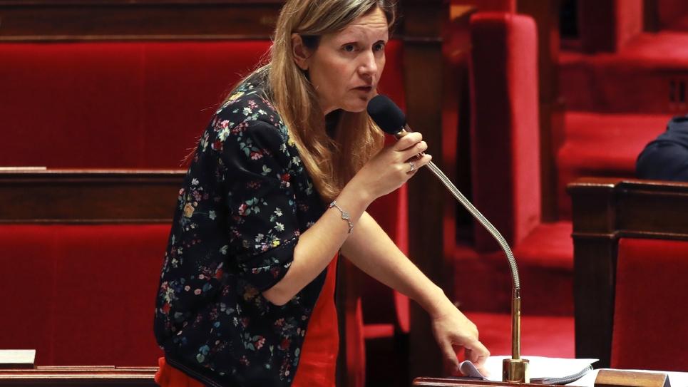 La présidente de la commission des Lois Yaël Braun-Pivet (LREM), le 27 juillet 2017 à l'Assemblée nationale à Paris