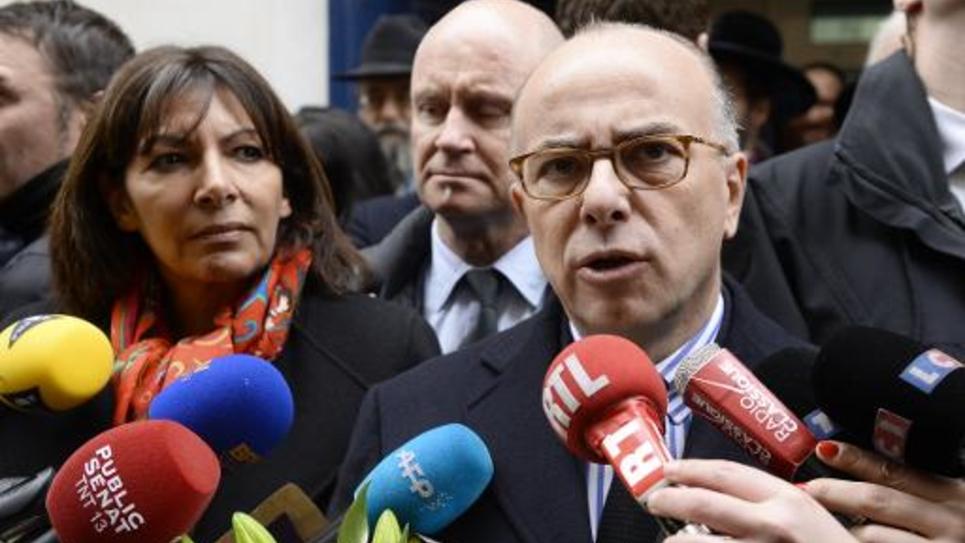 Le ministre de l'Intérieur, Bernard Cazeneuve, le 12 janvier 2015 à Paris
