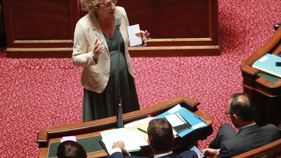 La ministre du Travail Muriel Pénicaud s'exprime devant les sénateurs, à Paris, le 6 juillet 2017