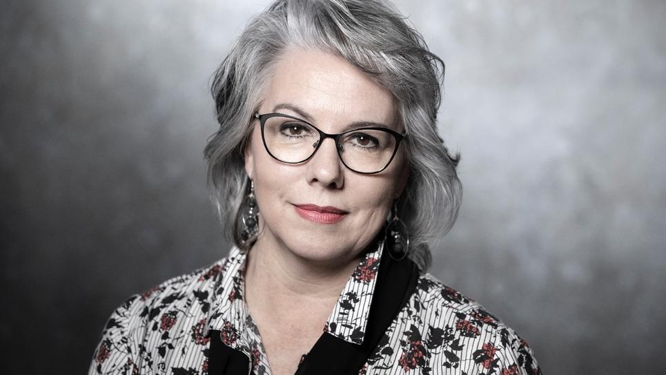"""Jacline Mouraud, figure des """"gilets jaunes"""" et fondatrice du micro-parti """"Les Emergents"""", le 4 février 2019 à Paris"""