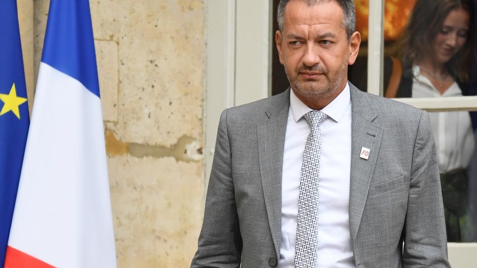 Pascal Pavageau, secrétaire général de Force ouvrière, le 30 août 2018 à Paris.