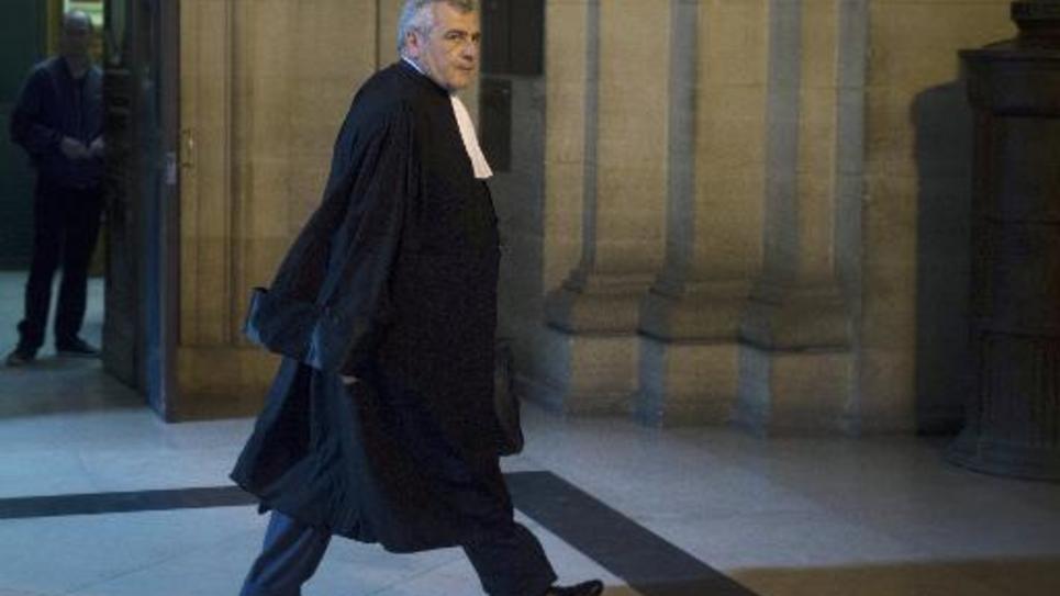 Me Thierry Herzog au Palais de Justice de Paris, le 10 mars 2014