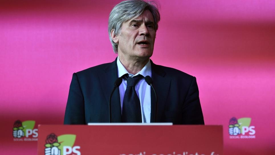Le maire du Mans Stéphane Le Foll photographié lors d'une conférence de presse au siège du Parti Socialiste en mars 2018
