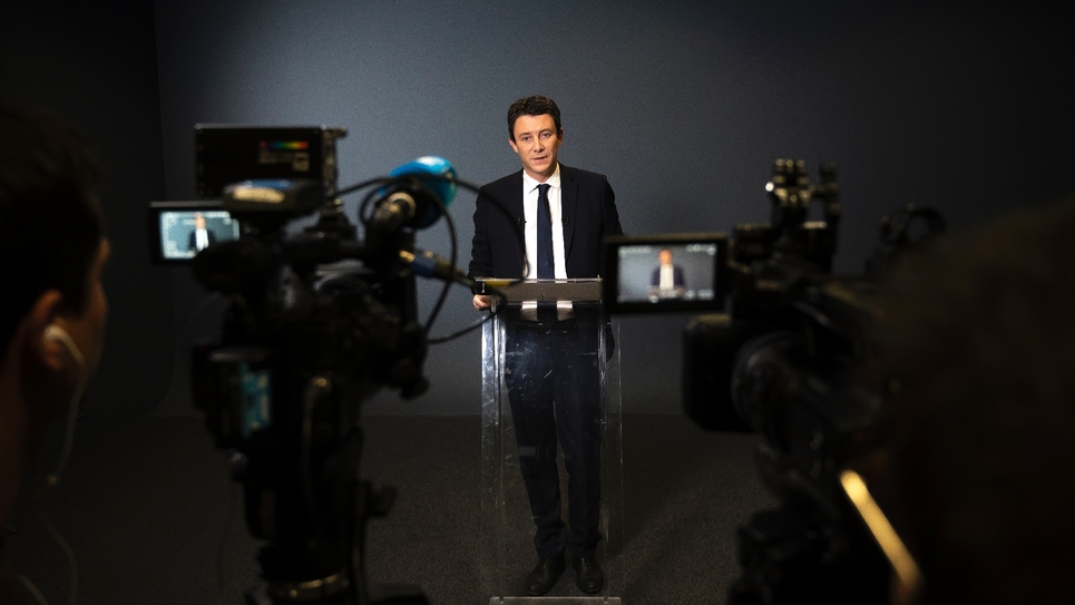 Benjamin Griveaux qui a retiré sa candidature pour la majorité présidentielle à la mairie de Paris le 14 février 2020