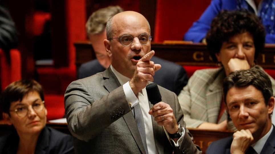 Le ministre de l'Education Jean-Michel Blanquer à l'Assemblée Nationale le 23 octobre 2018
