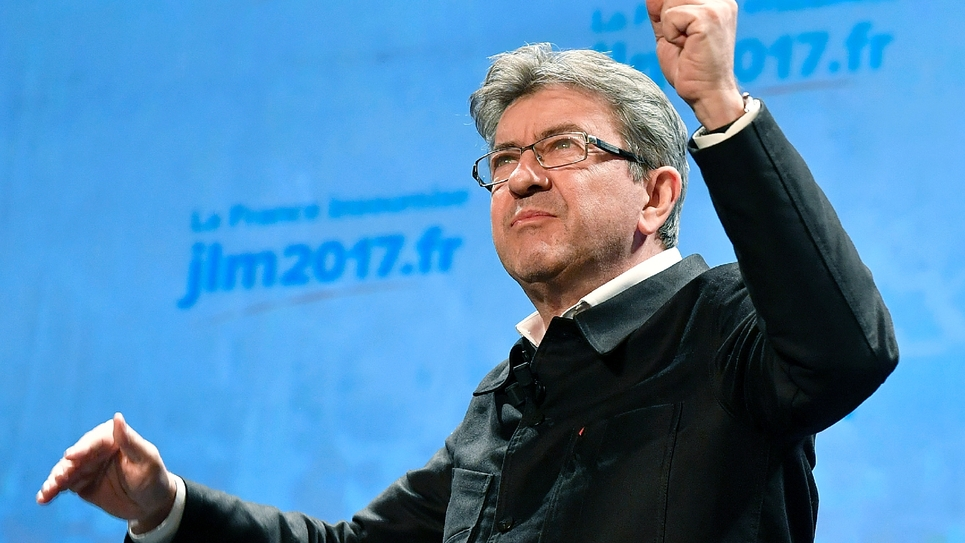 Jean-Luc Melenchon en campagne électorale à Bordeaux, le 29 novembre 2016