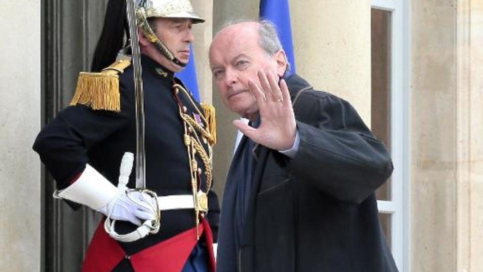 Jacques Toubon arrive à l'Elysée le 18 mars 2014, pour une réunion sur la Francophonie