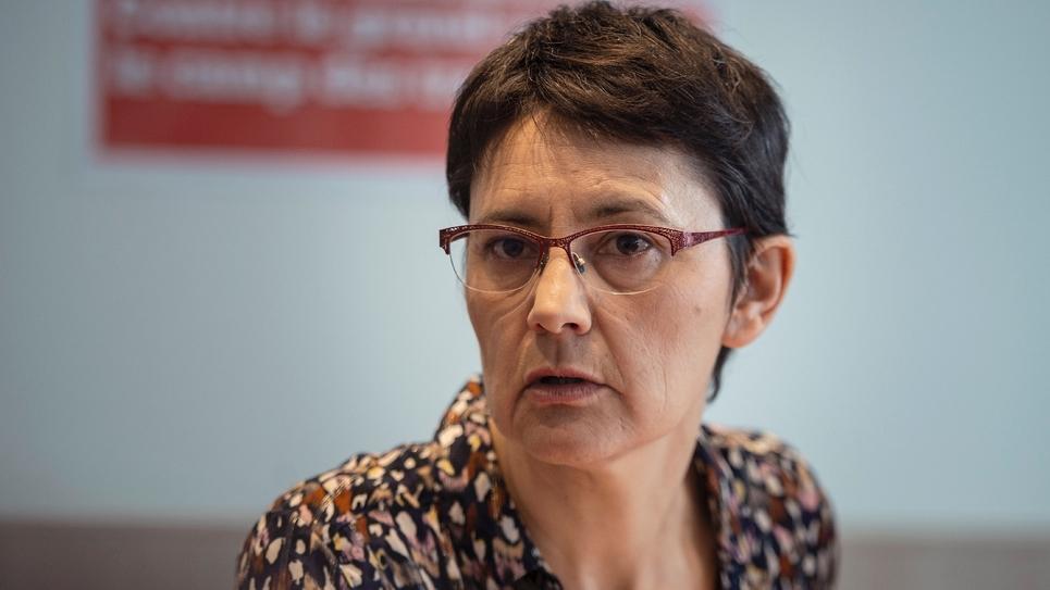 Nathalie Arthaud, porte-parole de Lutte ouvrière, le 29 mars 2019 à Paris