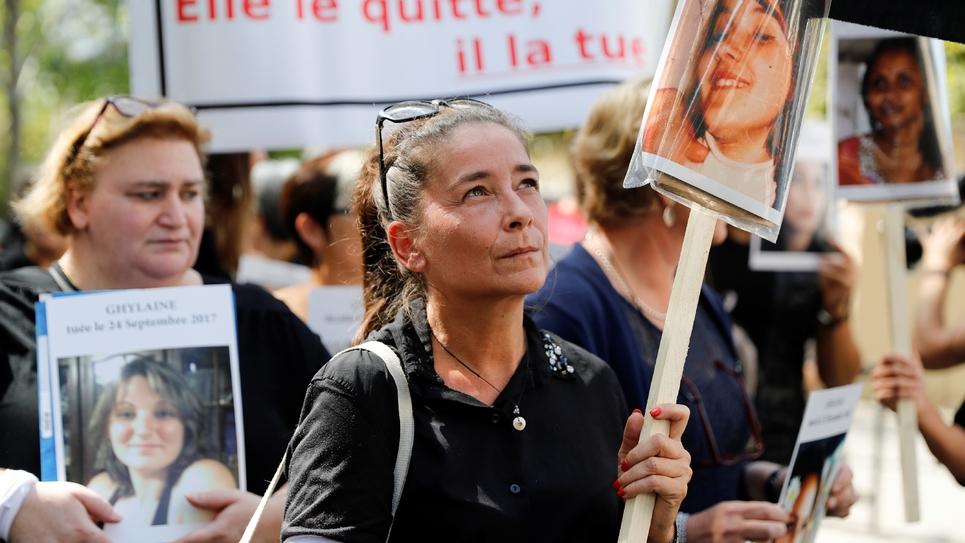 """Manifestation contre la violence sur les femmes à l'occasion du """"Grenelle"""" des violences conjugales, le 3 septembre 2019 à Paris"""