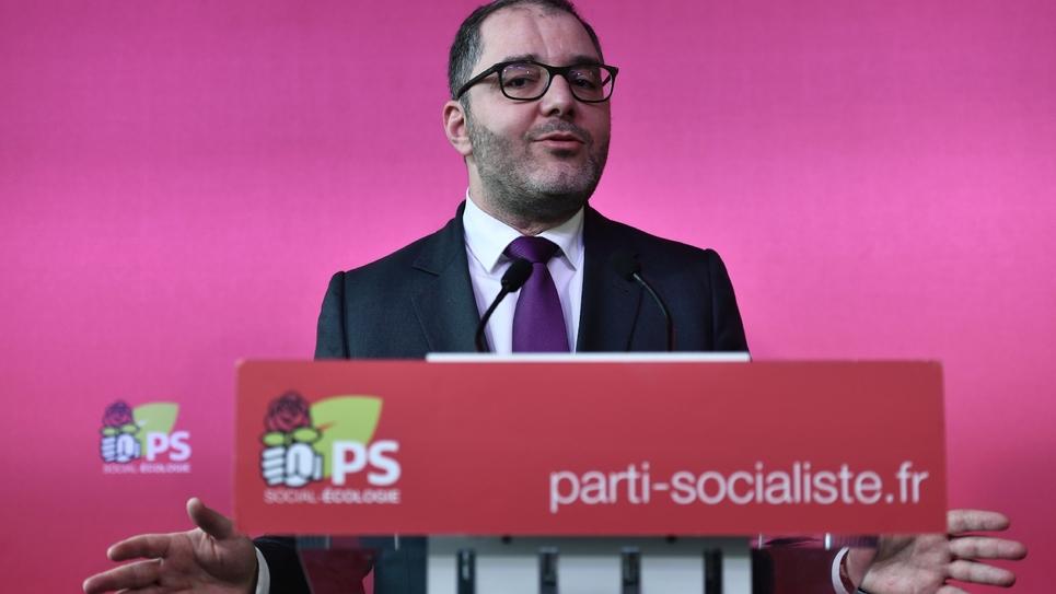 Le sénateur du Val d'Oise Rachid Temal au siège du PS en mars 2018