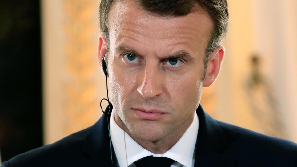 Le président de la République française Emmanuel Macron à Paris le 17 juillet 2018