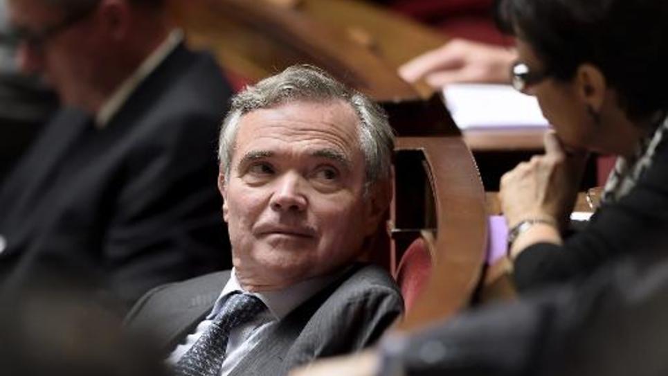 Le député UMP Bernard Accoyer à l'Assemblée nationale le 22 octobre 2014 à Paris