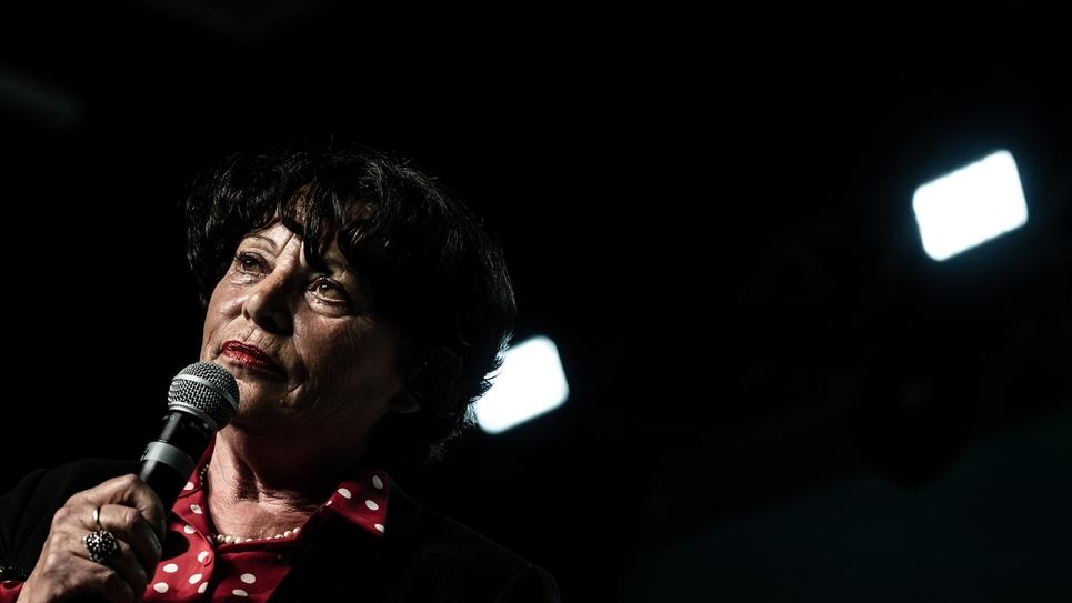 L'eurodéputée sortante Michèle Rivasi à Villeurbanne le 10 avril 2019