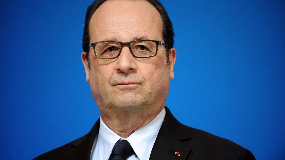 L'ancien président François Hollande à Cahors le 14 avril 2015