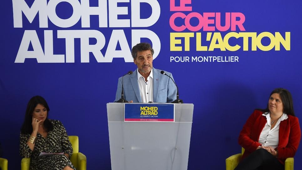 L'entrepreneur et président du club de rugby de Montpellier Mohed Altrad annonce sa candidature à la mairie de Montpellier, le 16 septembre 2019