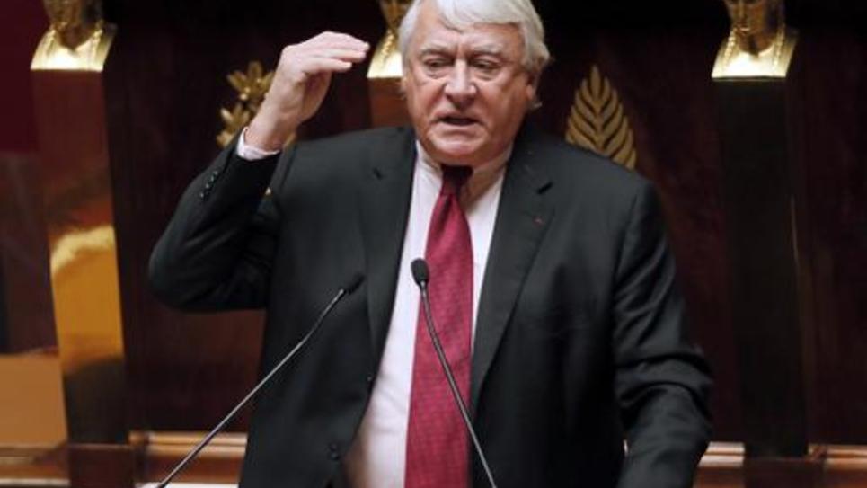 Le député UMP de Paris, Claude Goasguen, le 28 novembre 2014 à l'Assemblée nationale, à Paris