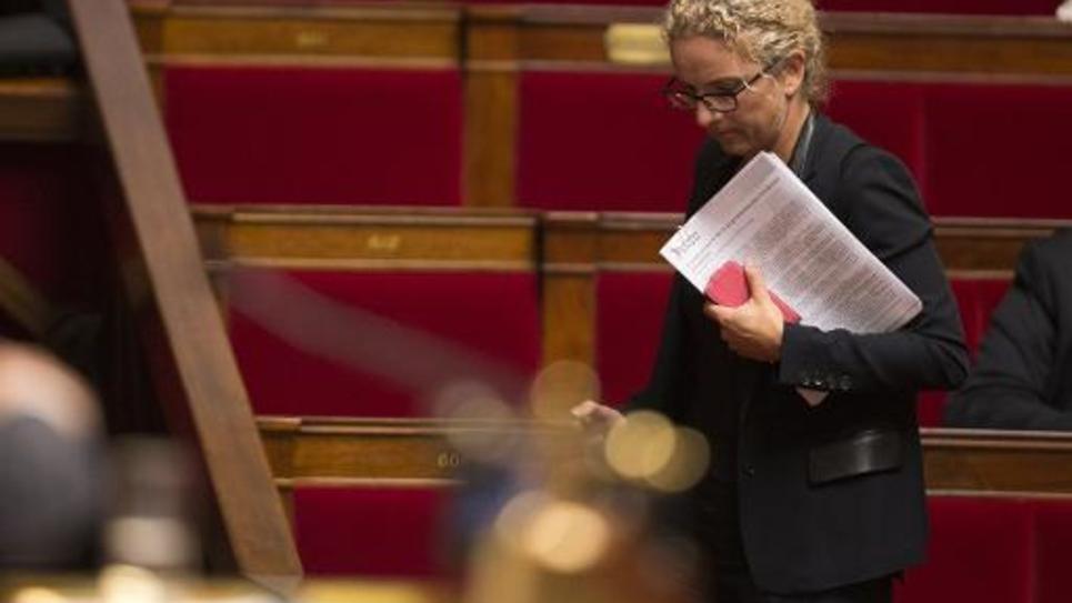 La députée socialiste des Deux-Sèvres Delphine Batho à l'Assemblée Nationale, le 24 septembre 2014