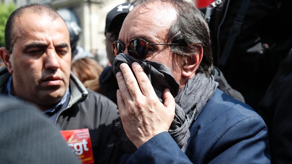 Le secrétaire général de la CGT Philippe Martinez à Paris pour le défilé du 1er mai 2019