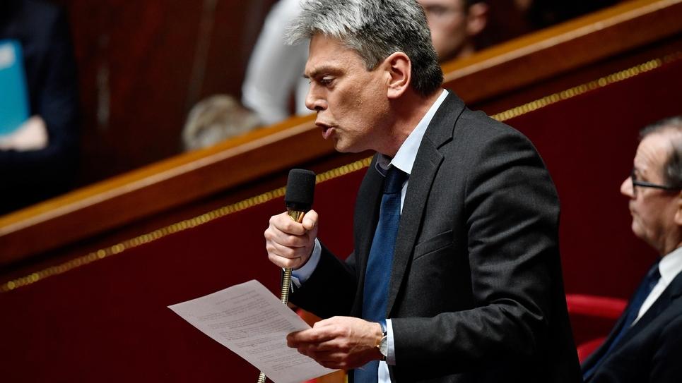Le député communiste Sébastien Jumel à l'Assemblée le 14 mars 2018