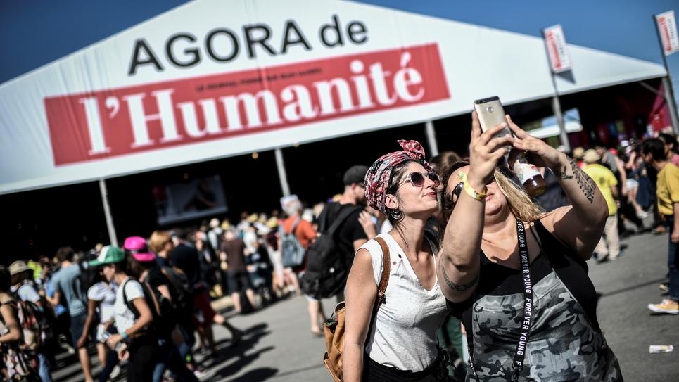 A la Fête de l'Humanité, à La Courneuve, le 14 septembre 2019