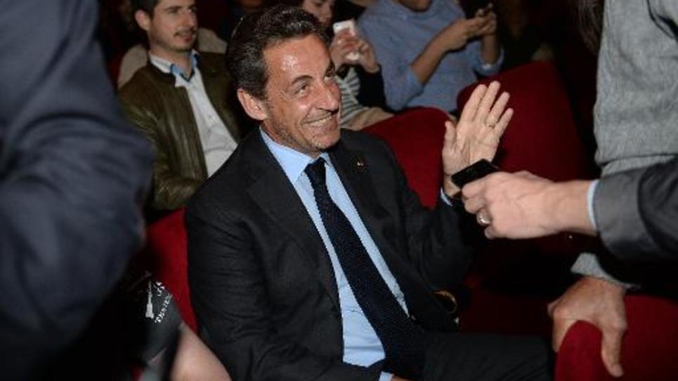 Nicolas Sarkozy le 24 avril 2014 à New York lors d'un concert de sa femme Carla Bruni à Broadway