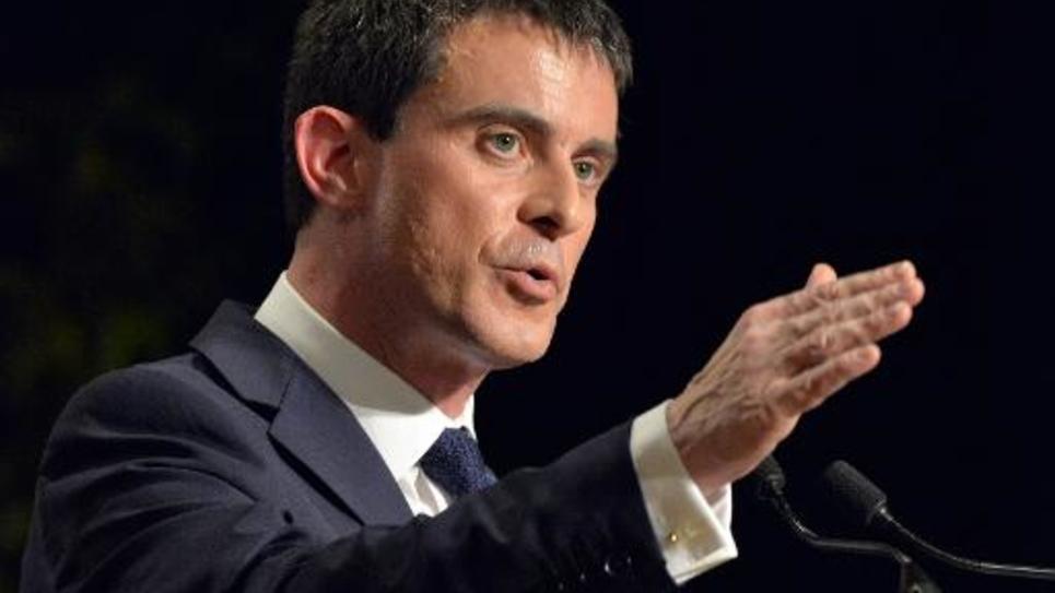 Le Premier ministre Manuel Valls, le 27 février 2015 à Betton, dans l'ouest de la France