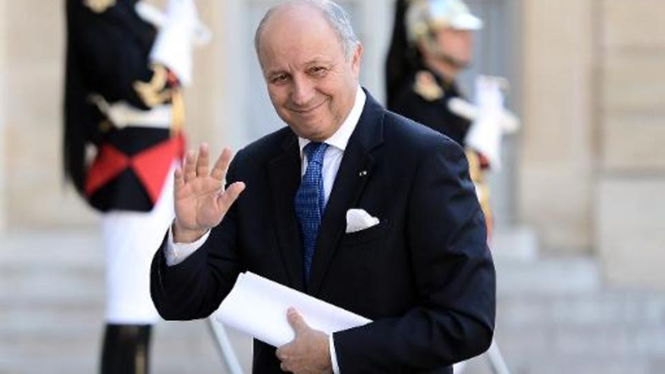 Le ministre des Affaires étrangères Laurent Fabius à l'Elysée le 8 juin 2015