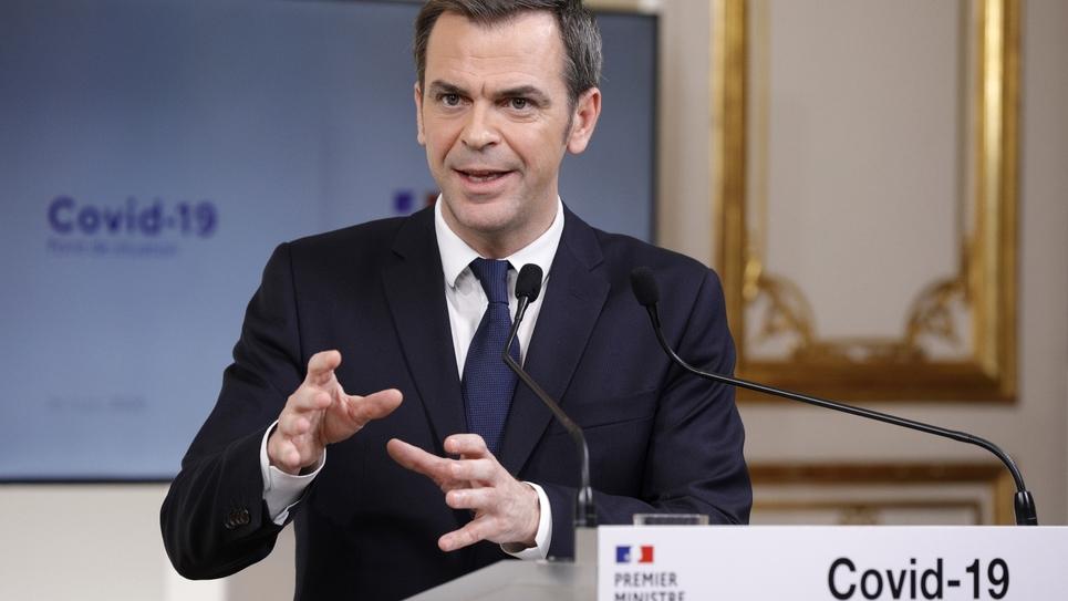Olivier Veran à Paris, le 28 mars 2020