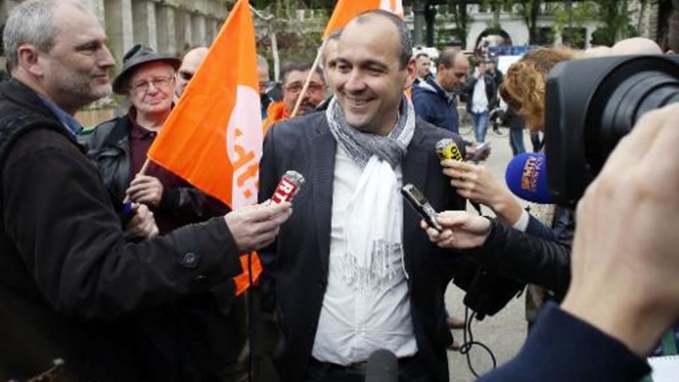 Laurent Berger, secrétaire général de la CFDT, le 1er mai 2014 à Paris