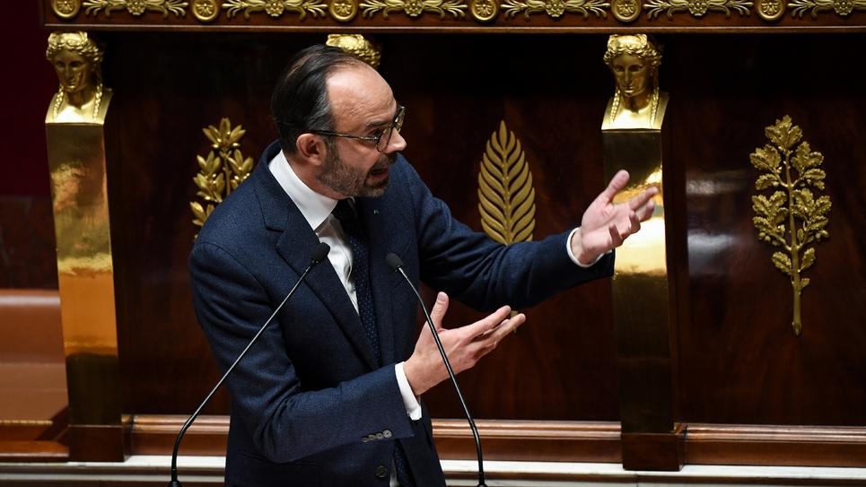 Edouard Philippe devant l'Assemblée nationale, à Paris le 5 décembre 2018