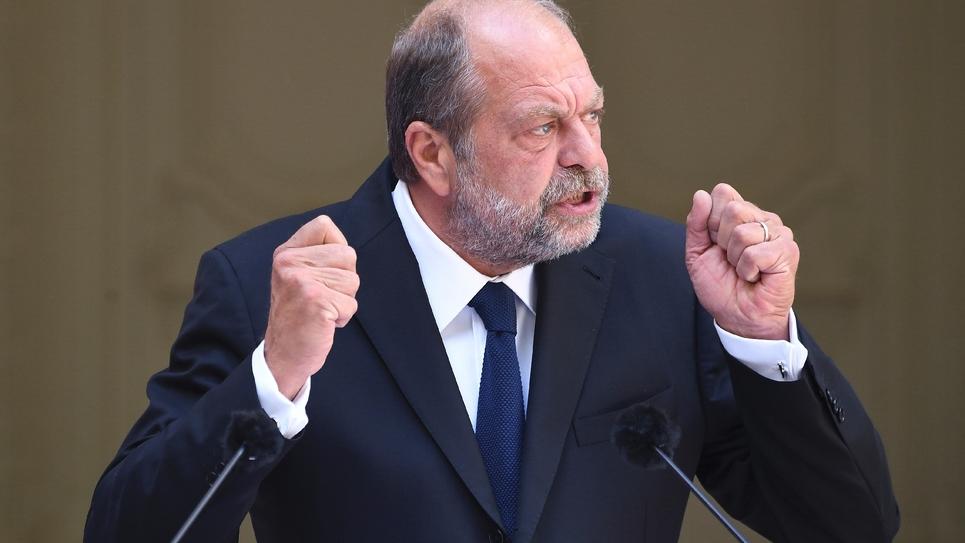 Eric Dupond-Moretti lors de son premier discours de garde des Sceaux, le 7 juillet 2020