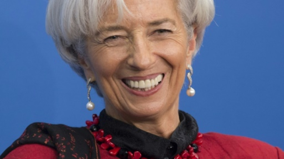 Christine Lagarde le 9 avril 2015 à Washington