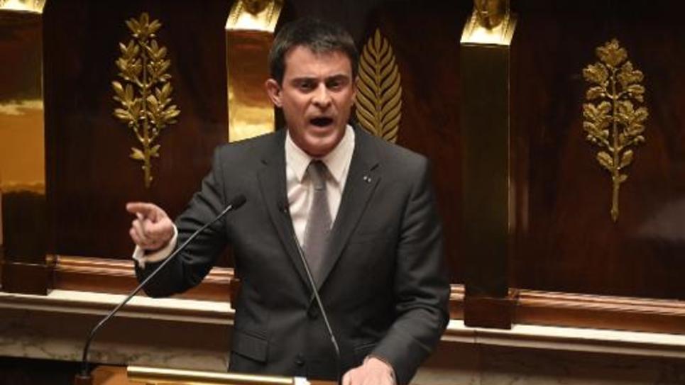 Le Premier ministre Manuel Valls à l'Assemblée nationale le 19 février 2015