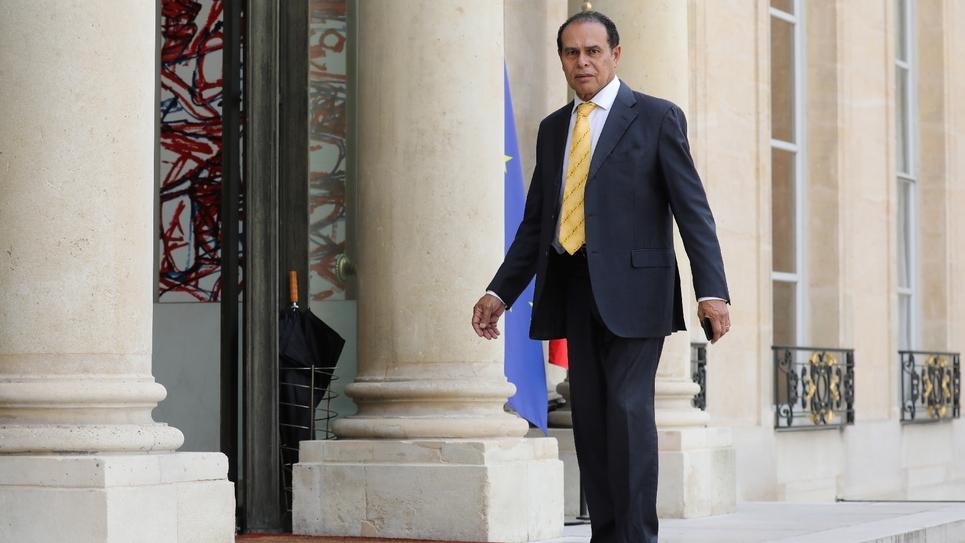 Léon Bertrand le 31 mai 2018 à l'Elysée lors d'annonces de mesures sur le patrimoine