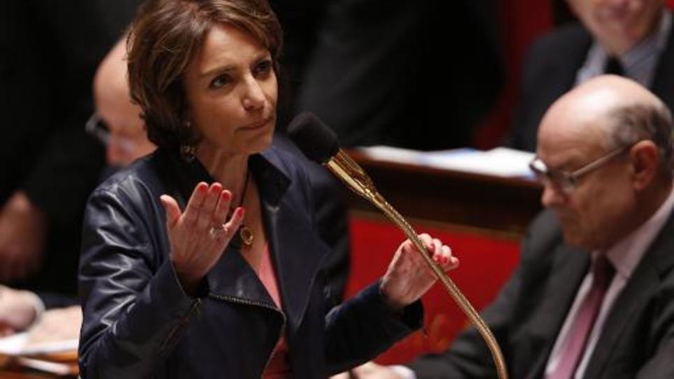 La ministre de la Santé, Marisol Touraine, le 17 mars 2015 à l'Assemblée nationale à Paris
